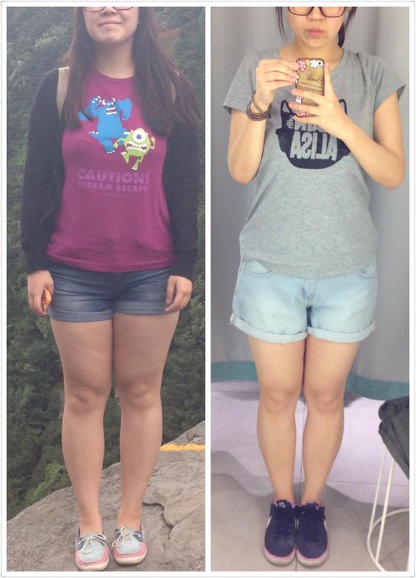 po一个减肥前后护肤图,五月不减肥六月徒么么,一起加油对比减肥伤悲苏芙蔓塑身衣图片图片